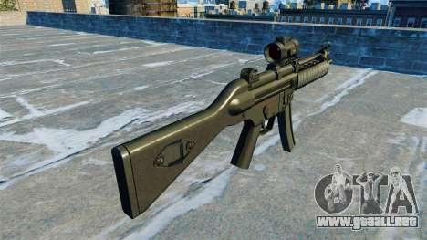 Subfusil MP5 RIS Nom900a para GTA 4 segundos de pantalla