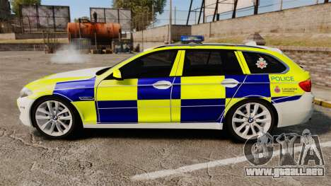BMW 530d Touring Lancashire Police [ELS] para GTA 4 left