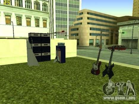 La Película del concierto para GTA San Andreas sucesivamente de pantalla