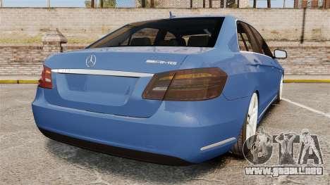 Mercedes-Benz E63 AMG 2014 para GTA 4 Vista posterior izquierda
