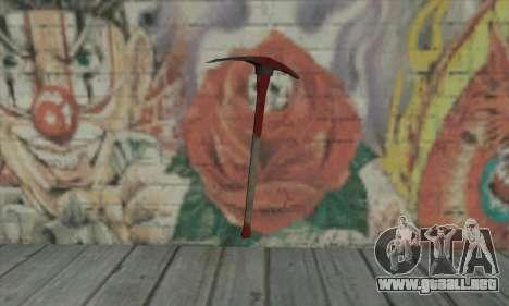 Pickaxe para GTA San Andreas segunda pantalla