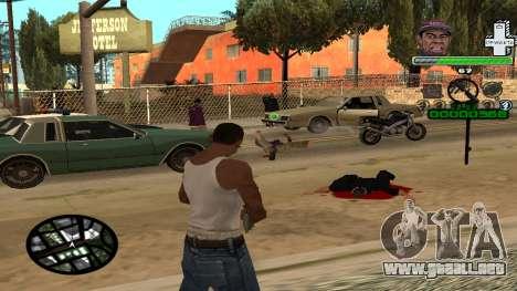 C-HUD by Tyler para GTA San Andreas tercera pantalla