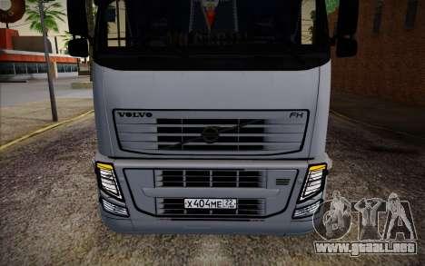 Volvo FH16 440 para visión interna GTA San Andreas