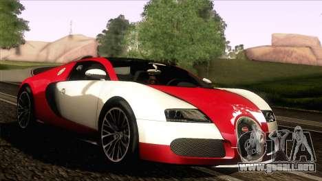 Bugatti Veyron 16.4 para GTA San Andreas left