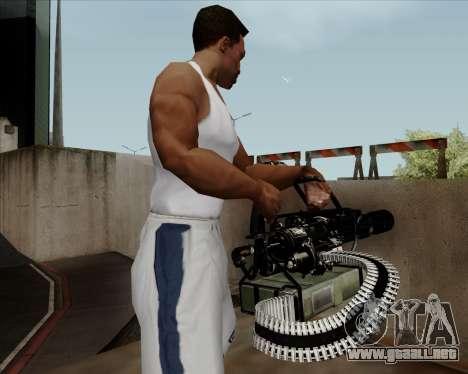 Renegades Minigun Black para GTA San Andreas sucesivamente de pantalla