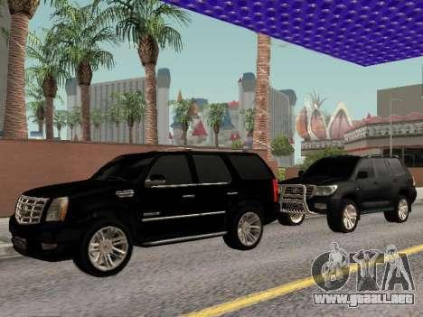 Cadillac Escalade 2010 para GTA San Andreas vista hacia atrás