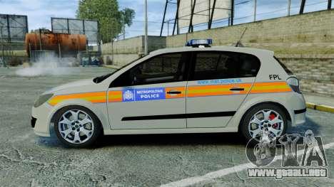 Vauxhall Astra Metropolitan Police [ELS] para GTA 4 left
