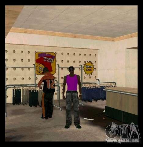 El verde y el Violeta Mike para GTA San Andreas segunda pantalla