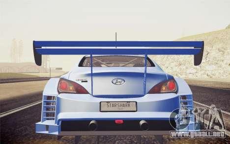 Hyundai Genesis Coupe 2010 Tuned para la visión correcta GTA San Andreas