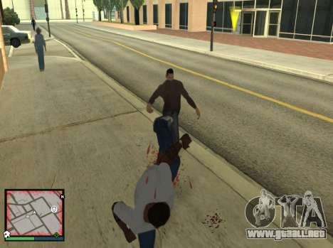 GTA 5 HUD v2 para GTA San Andreas tercera pantalla