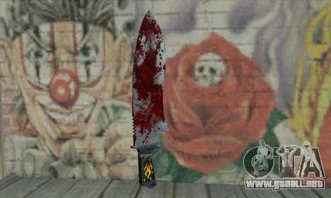 Large bloody knife para GTA San Andreas segunda pantalla