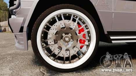 Mercedes-Benz G65 2012 AMG Hamann para GTA 4 vista hacia atrás
