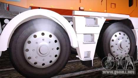 Freightliner Argosy 8x4 para GTA San Andreas vista hacia atrás