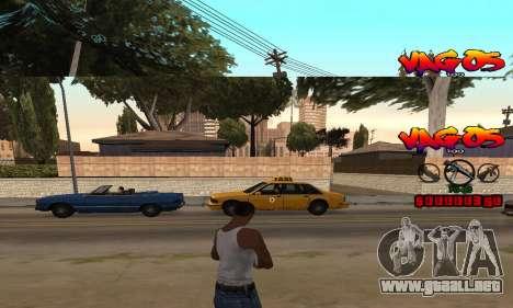 HUD Vagos para GTA San Andreas segunda pantalla
