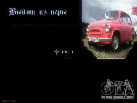 Menú de coches Soviéticos para GTA San Andreas séptima pantalla