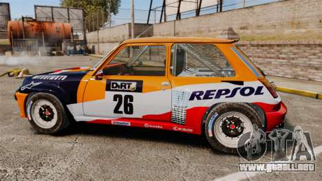 Renault 5 Maxi Turbo para GTA 4 left