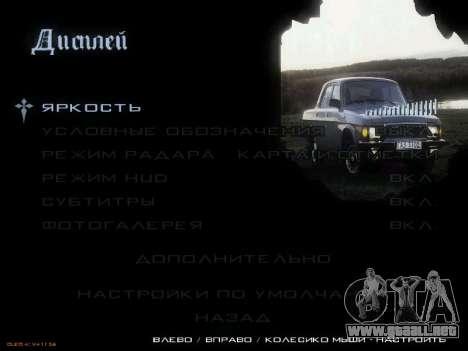 Menú de coches Soviéticos para GTA San Andreas tercera pantalla