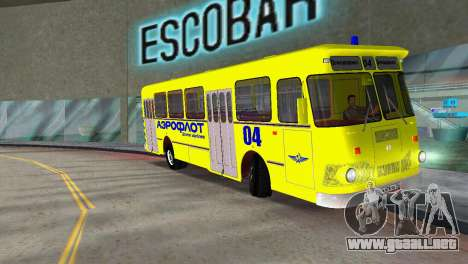 LIAZ 677 Aeroflot para GTA Vice City left