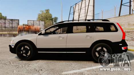Volvo XC70 2014 Unmarked Police [ELS] para GTA 4 left