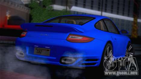 Porsche 911 Turbo Bi-Color para GTA San Andreas vista posterior izquierda