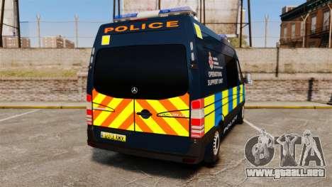 Mercedes-Benz Sprinter Police [ELS] para GTA 4 Vista posterior izquierda