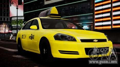 Chevrolet Impala 2006 Такси para GTA 4