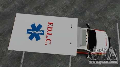 Ford F-250 Super Duty FDLC Ambulance [ELS] para GTA 4 visión correcta