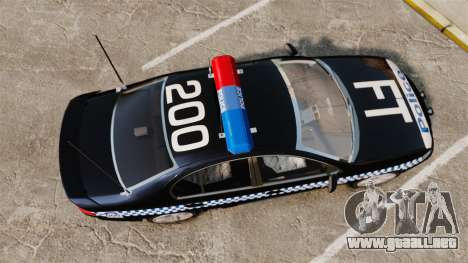 Ford BF Falcon XR6 Turbo Police [ELS] para GTA 4 visión correcta