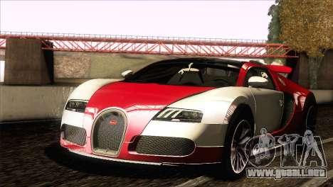 Bugatti Veyron 16.4 para la vista superior GTA San Andreas