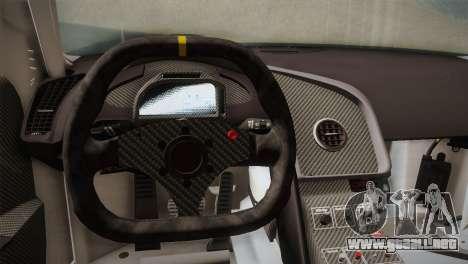 Audi R8 LMS v2.0.4 DR para GTA San Andreas interior