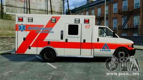 Brute Luxaid Ambulance [ELS] para GTA 4 left