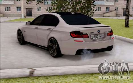 BMW 550 F10 xDrive para GTA San Andreas left