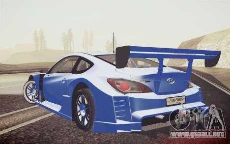 Hyundai Genesis Coupe 2010 Tuned para GTA San Andreas left