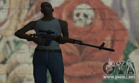 Dragunov Sniper Rifle para GTA San Andreas tercera pantalla