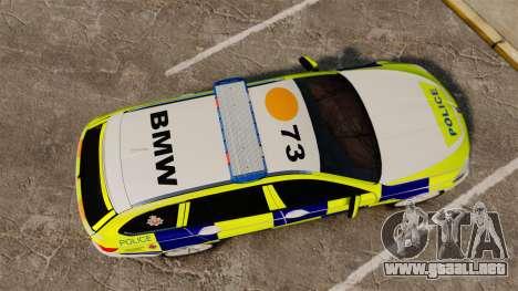 BMW 530d Touring Lancashire Police [ELS] para GTA 4 visión correcta
