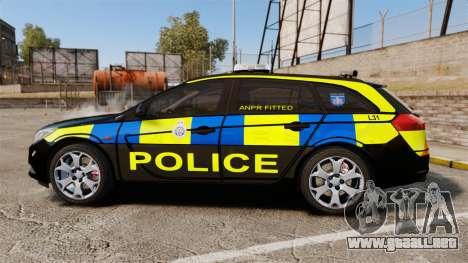 Vauxhall Insignia Sports Tourer Police [ELS] para GTA 4 left