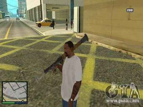 GTA 5 HUD v2 para GTA San Andreas séptima pantalla