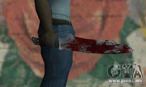 Large bloody knife para GTA San Andreas tercera pantalla