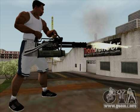 Renegades Minigun Black para GTA San Andreas quinta pantalla