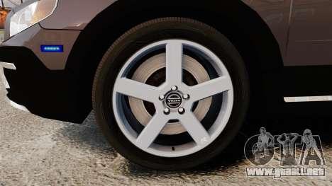 Volvo XC70 2014 Unmarked Police [ELS] para GTA 4 vista hacia atrás