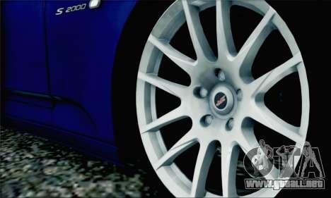 Honda S2000 Daily para GTA San Andreas interior