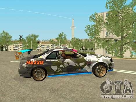 Nissan Skyline Drift para GTA San Andreas left