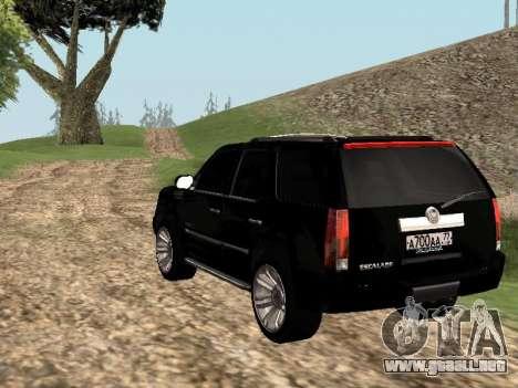 Cadillac Escalade 2010 para GTA San Andreas left