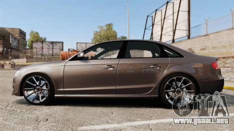 Audi S4 2013 Unmarked Police [ELS] para GTA 4 left