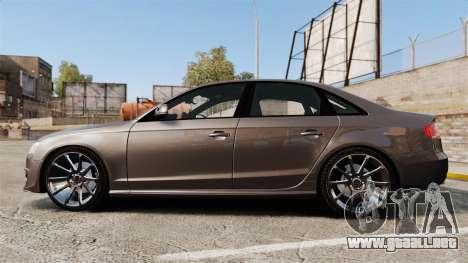 Audi S4 2013 Unmarked Police [ELS] para GTA 4 left