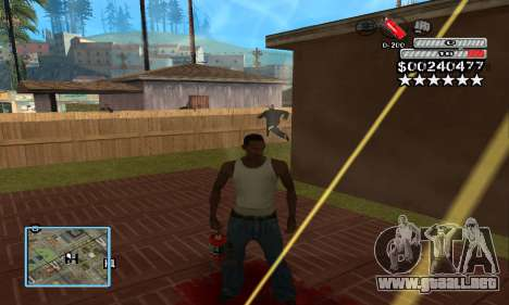 C-HUD by NickQuest para GTA San Andreas tercera pantalla