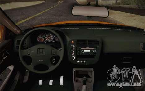 Honda Civic 1999 Si para la visión correcta GTA San Andreas