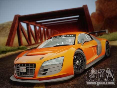 Audi R8 LMS v2.0.4 DR para visión interna GTA San Andreas