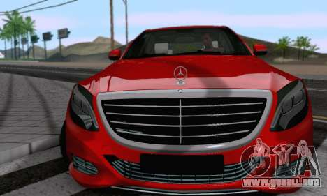 Mercedes-Benz W222 para la visión correcta GTA San Andreas