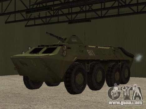 BTR-70 para GTA San Andreas vista hacia atrás